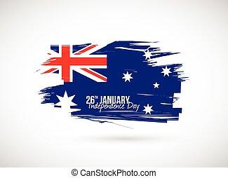 drapeau, australie, jour, indépendance