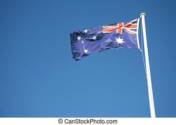 drapeau australien, dehors