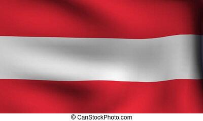 drapeau, autriche, fond