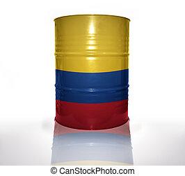 drapeau, baril, colombien