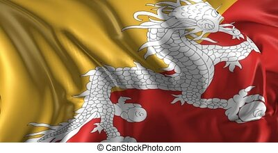 drapeau, bhoutan