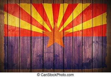 drapeau, bois, fond, arizona