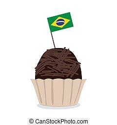 drapeau brésil, isolé, brigadeiro