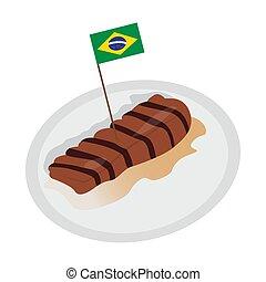 drapeau brésil, picanha