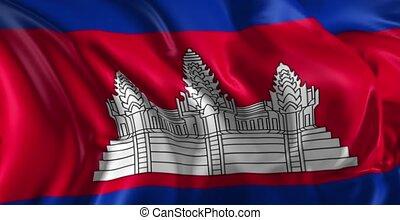 drapeau, cambodge