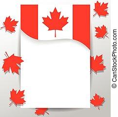 drapeau, canada, éléments, jour, conception, national