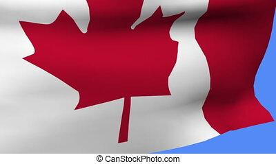 drapeau canada, poteau