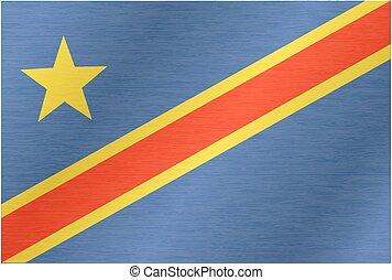 drapeau, congo, république, démocratique