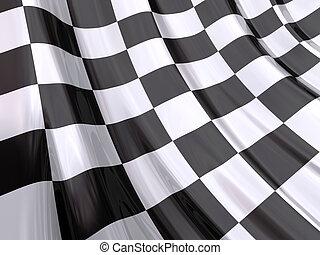 drapeau, course, fin