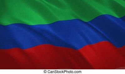 drapeau, dagestan, fond, vidéo, onduler, -