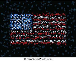 drapeau, defocused, nous