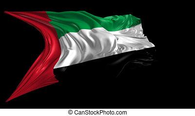 drapeau, emirats, uni, arabe