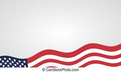 drapeau, etats, uni, amérique