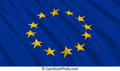 drapeau, européen, seamless, boucle, union