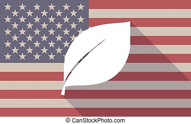 drapeau, feuille, usa, icône