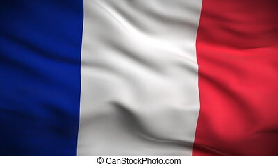 drapeau, francais, looped., hd.