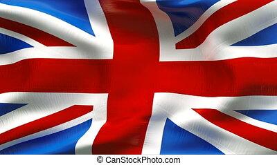 drapeau, grande-bretagne, textured, coton
