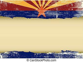 drapeau, gratté, horizontal, arizona