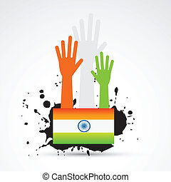 drapeau, indien, conception, créatif