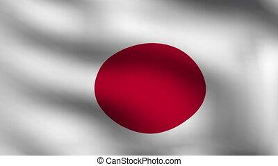 drapeau japon, animation