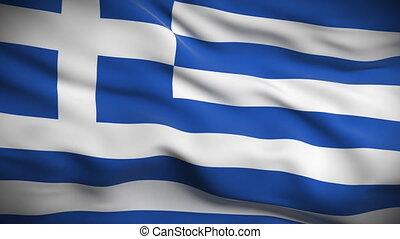 drapeau, looped., hd., grec