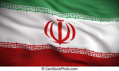 drapeau, looped., hd., iranien