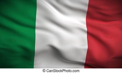 drapeau, looped., hd., italien