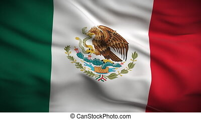 drapeau, looped., hd., mexicain
