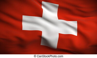 drapeau, looped., suisse, hd.