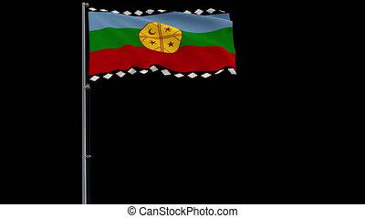 drapeau, métrage, mapuche, transparent, transparence, 4k, alpha, fond