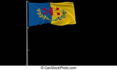 drapeau, métrage, transparent, transparence, 4k, alpha, fond, kabylia