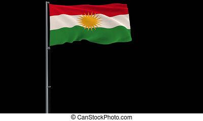 drapeau, métrage, transparent, transparence, 4k, alpha, fond, kurdistan