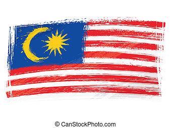 drapeau malaisie, grunge