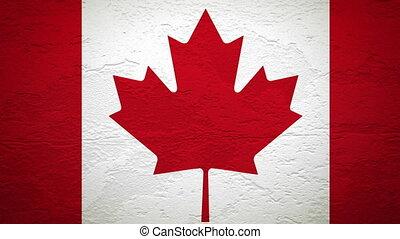 drapeau, mur, explosion, canada