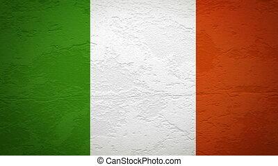 drapeau, mur, explosion, irlande