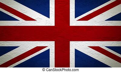 drapeau, mur, explosion, royaume-uni