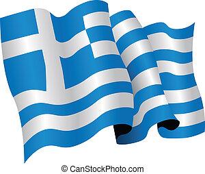drapeau national, grèce