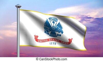 drapeau, nous, boucle, armée