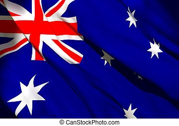 drapeau ondulant, australie