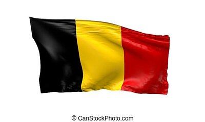 drapeau ondulant, belge