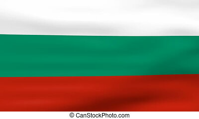 drapeau ondulant, bulgarie