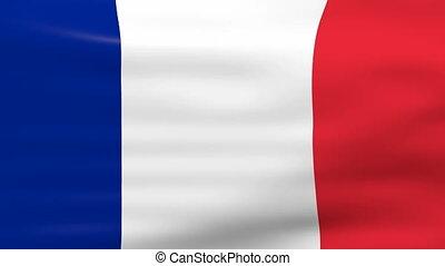 drapeau ondulant, france