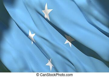 drapeau ondulant, micronésie