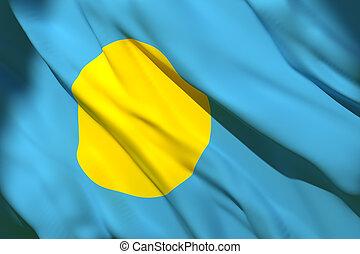 drapeau ondulant, palaos