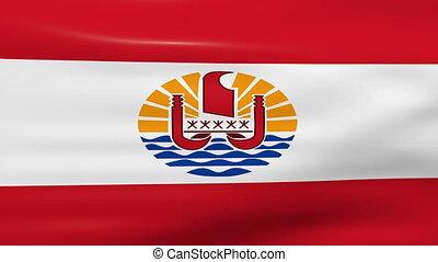 drapeau ondulant, polynésie française