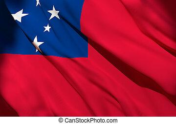 drapeau ondulant, samoa