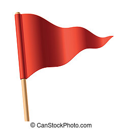 drapeau ondulant, triangulaire, rouges