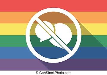 drapeau, permis, ballons, fierté gaie, comique, pas, long, ombre, signal, deux