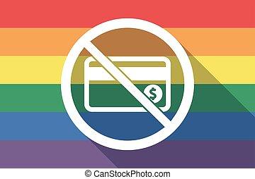drapeau, permis, carte, fierté gaie, pas, long, crédit, ombre, signal
