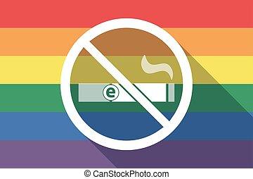 drapeau, permis, fierté gaie, pas, long, ombre, e-cigarette, signal